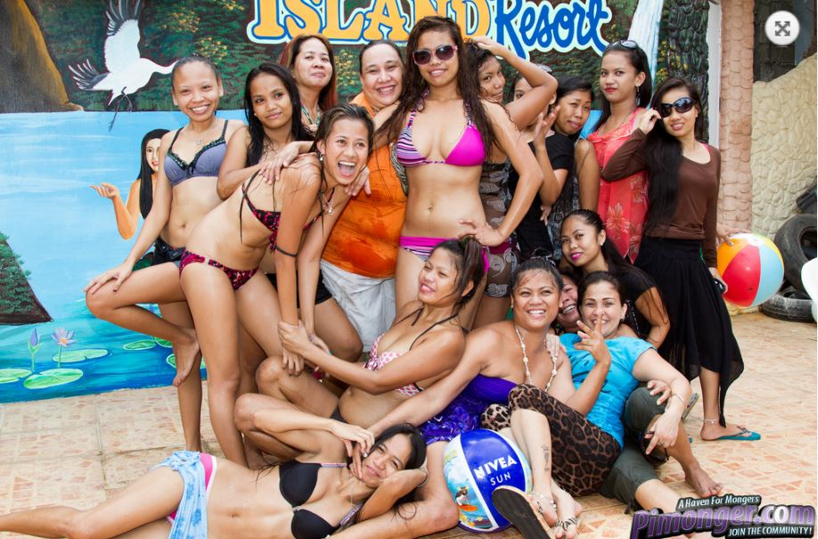 Treasure Island Beach Resort in Subic Bay, Philippines - Pool Party with beautiful bargirls.